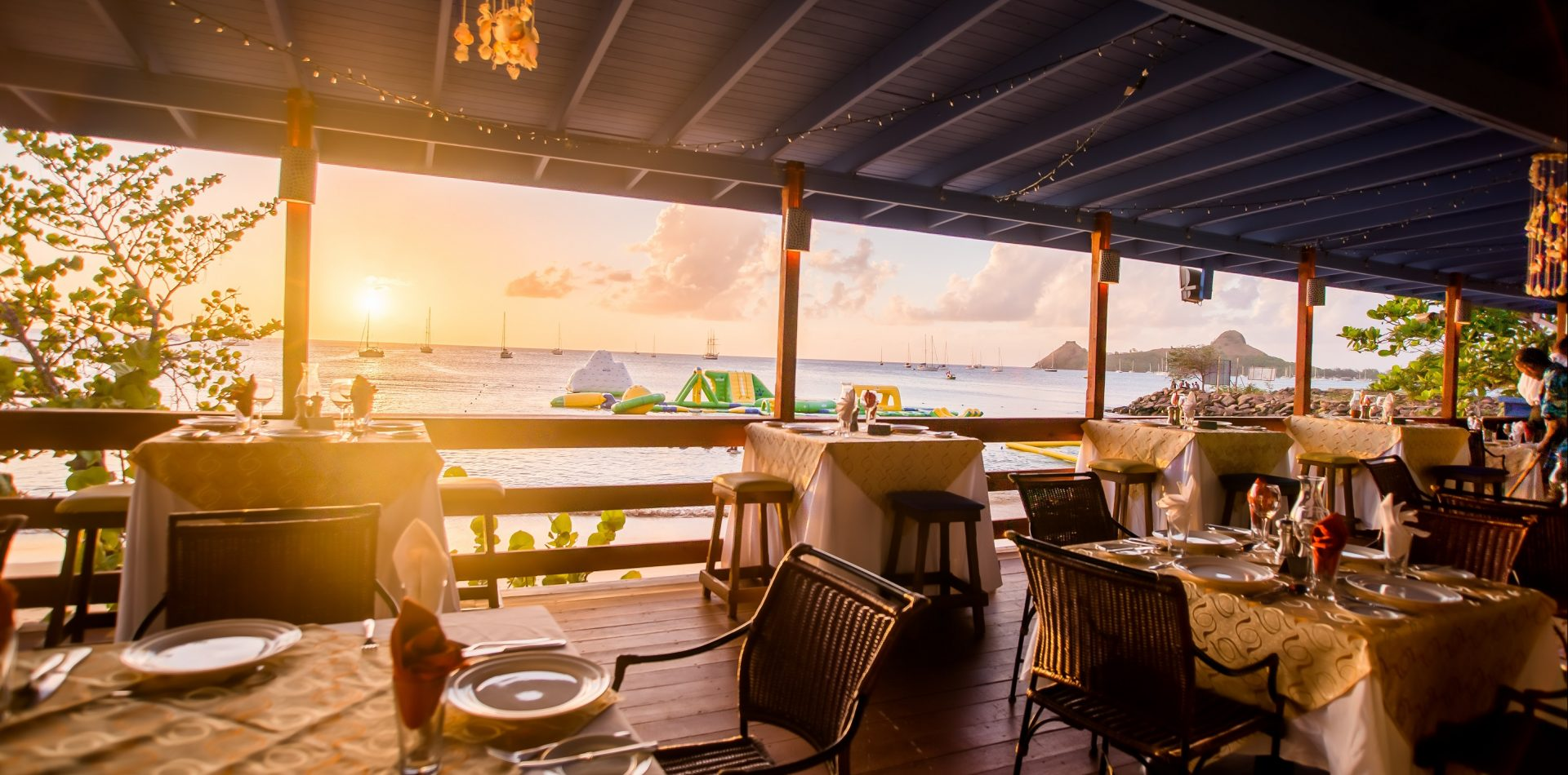 Dining in St. Lucia