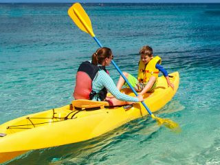 Kayaking in at St. Lucia Beach Resort